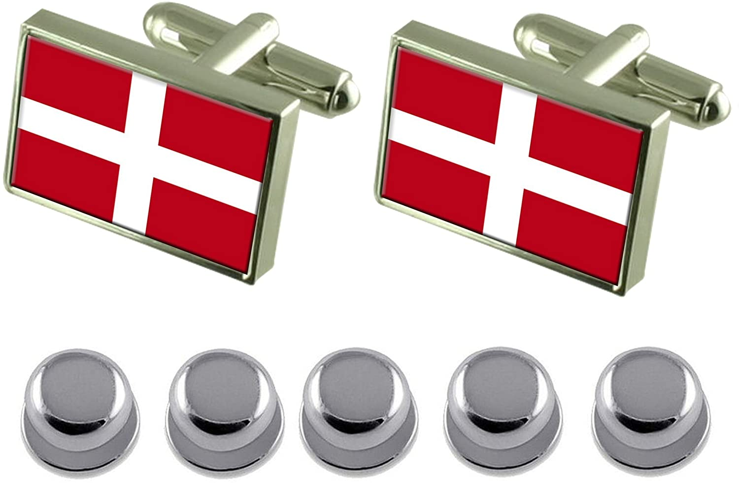 Select Gifts Shirt Dress Studs Como City Italy Flag Cufflinks