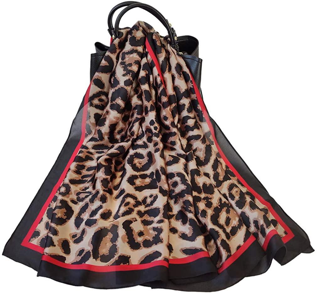 Rectangle Headscarf Women Silk Like Long Scarf Extra-Large Lightweight Wrap Shawl