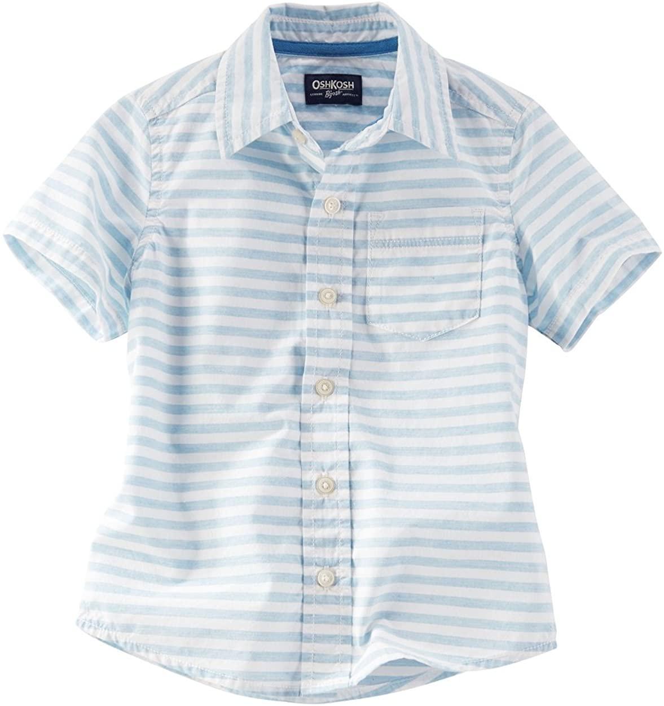 OshKosh B'Gosh Little Boys' Striped Button Front Shirt, 7 Kids