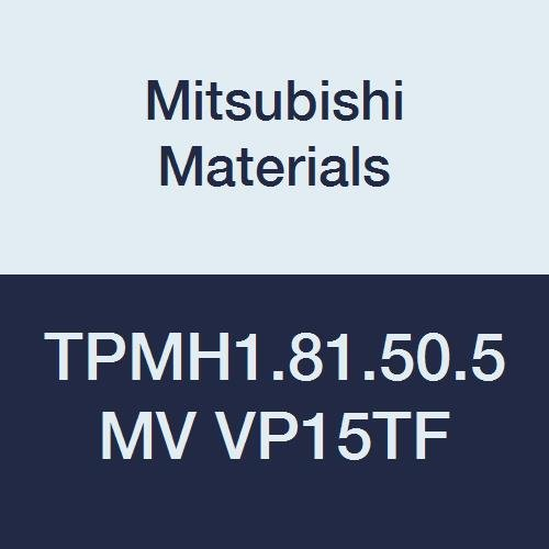 Mitsubishi Materials TPMH1.81.50.5MV VP15TF PVD Coated Carbide TP Type Positive Turning Insert with Hole, Triangular, 0.008