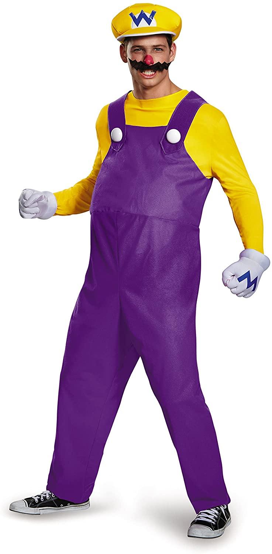 Disguise Men's Super Mario Wario Deluxe Costume