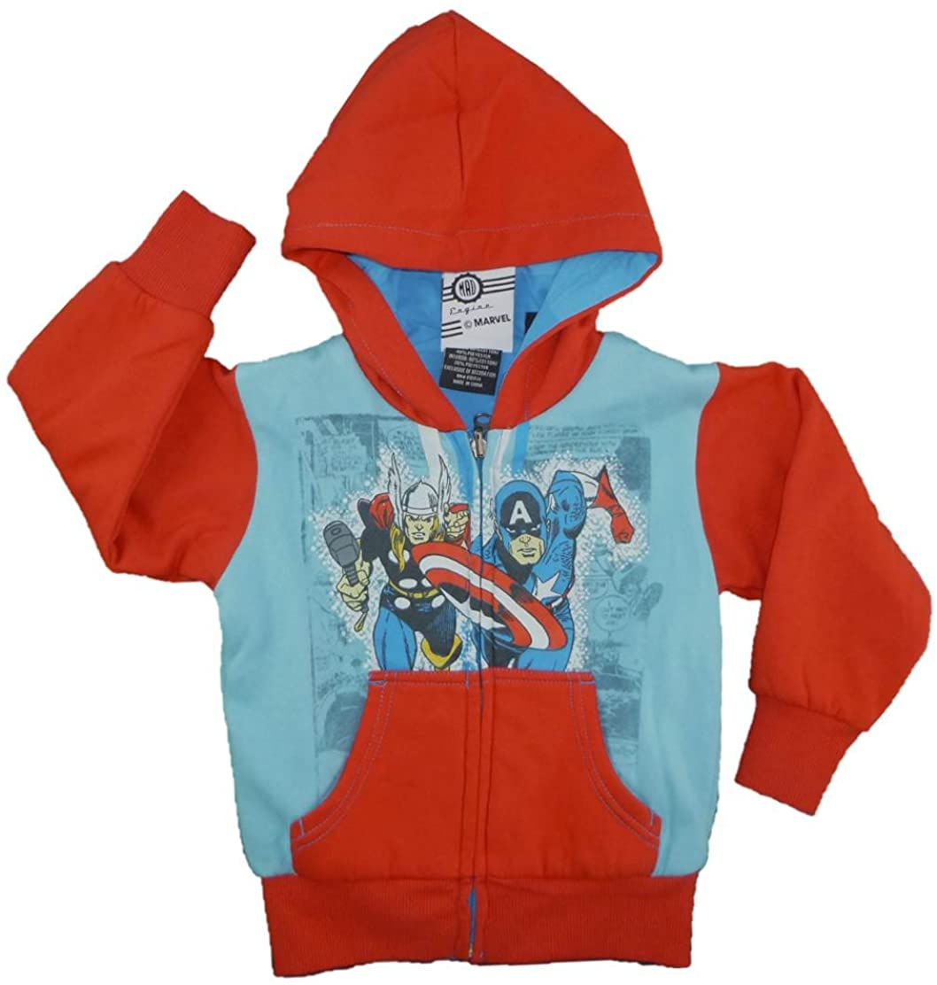 Marvel Little Boys' Thor and Captain America Reversible Hoodie