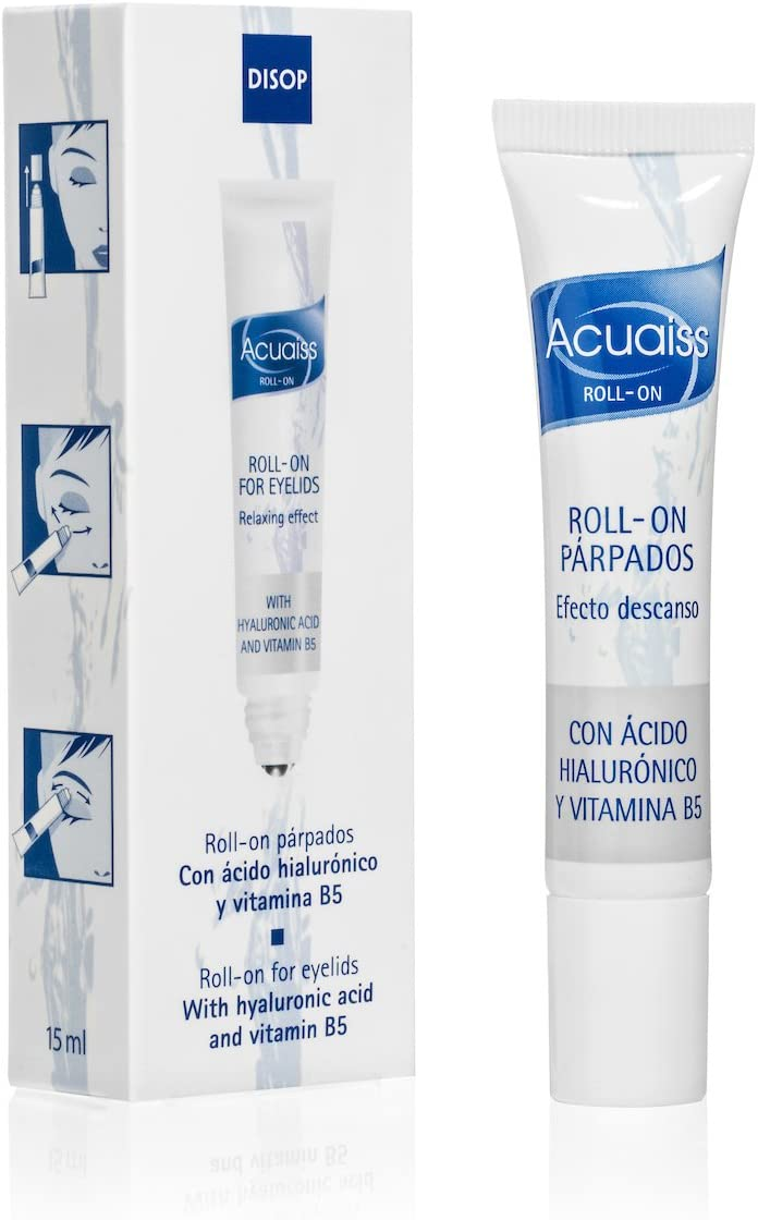 Acuaiss Eye Roller Moisturizer for Puffy Tired Eyelids with Hyaluronic Acid & Vitamin B5. Refreshing Cooling Roll-On for Under The Eye - 0.34 Fl Oz