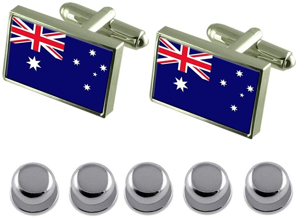 Select Gifts Shirt Dress Studs Australia Flag Cufflinks