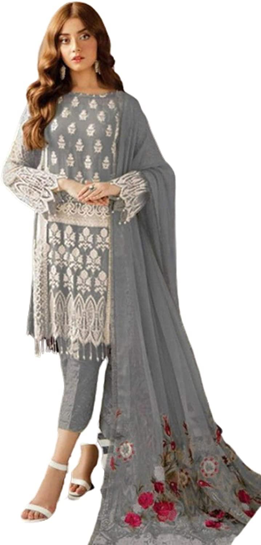 ETHNIC EMPORIUM Ready to Wear Muslim Pakistani Georgette Kurti Pants Salwar Kameez Formal Indian Women Suit R20