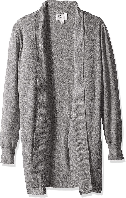 AJ by Andrea Jovine Women's Whisper Knit Tie Front Cardigan Sweater