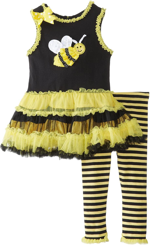 Rare Editions Baby Baby Girls' Bee Applique Tutu Legging Set