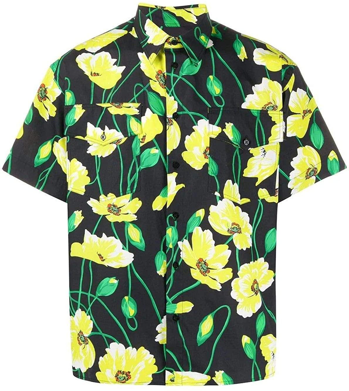 MSGM Luxury Fashion Man 2840ME2320705299 Black Cotton Shirt | Spring Summer 20