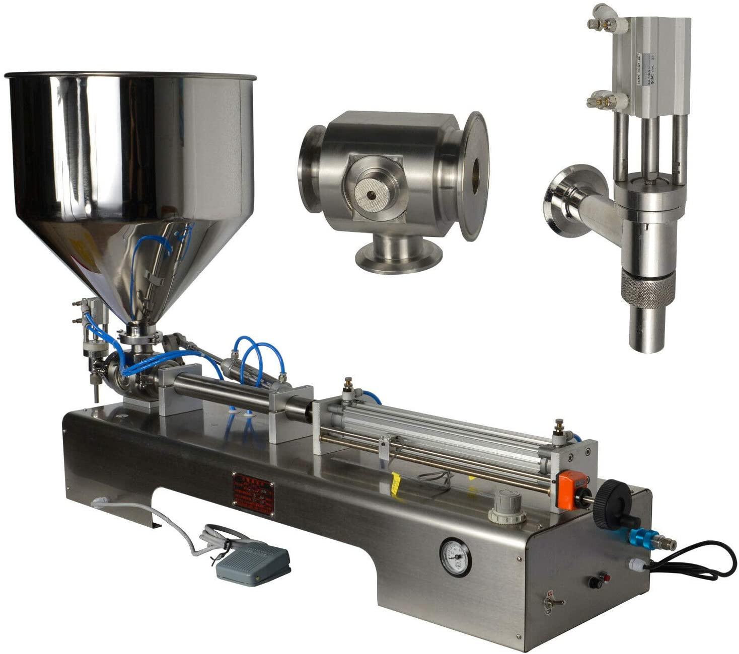 3.38-33.8oz Liquid Paste Filling Machine Piston Oil Sauce 100-1000ml Filler