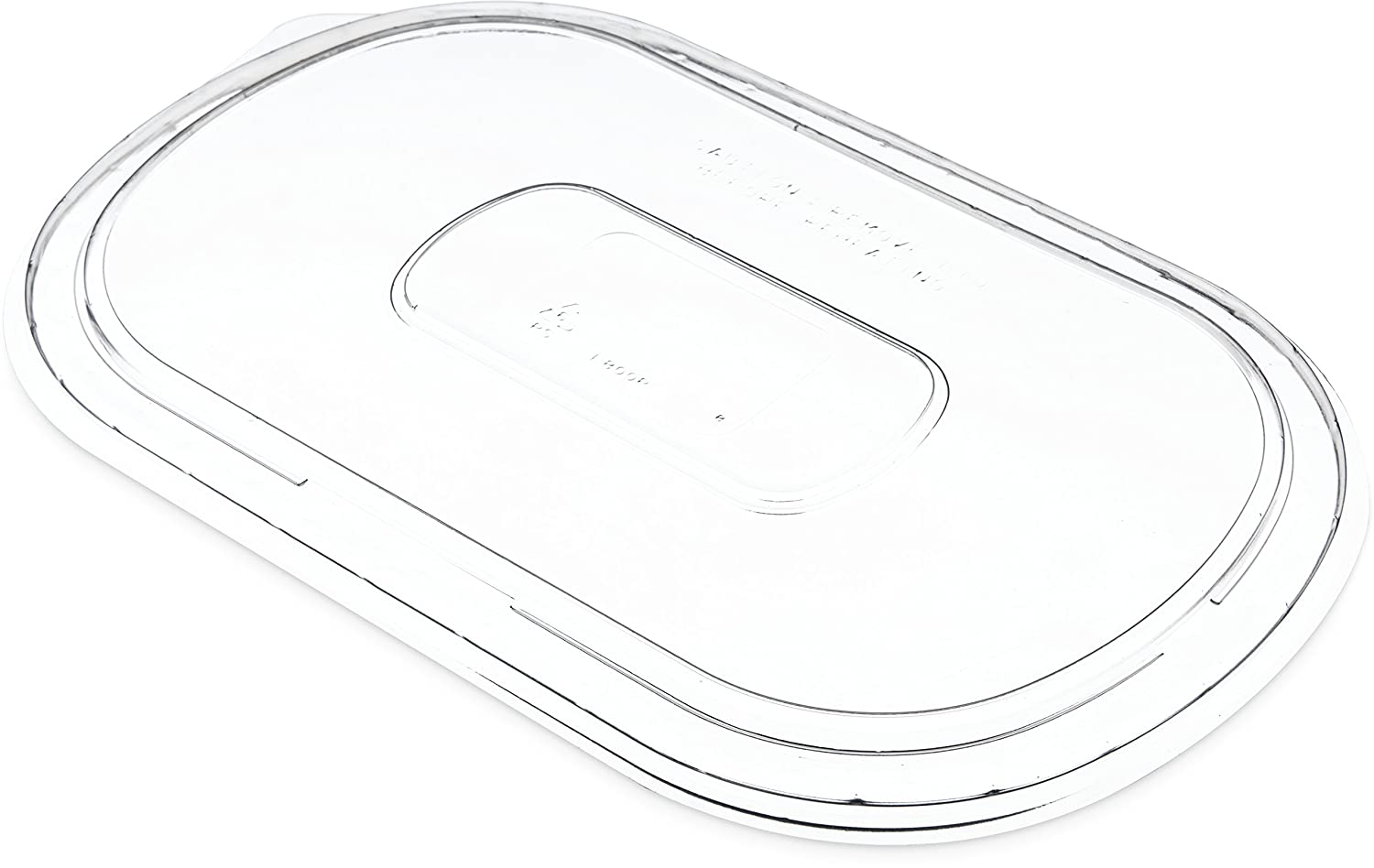 Dinex DXL800PCLR Flat Lid for Microwaveable Medium Entrees, Polystyrene, Clear (Pack of 250)