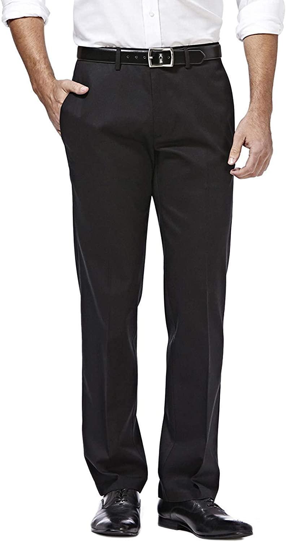 Haggar H26 - Men's Straight Fit Performance Pant - Black (48x30)