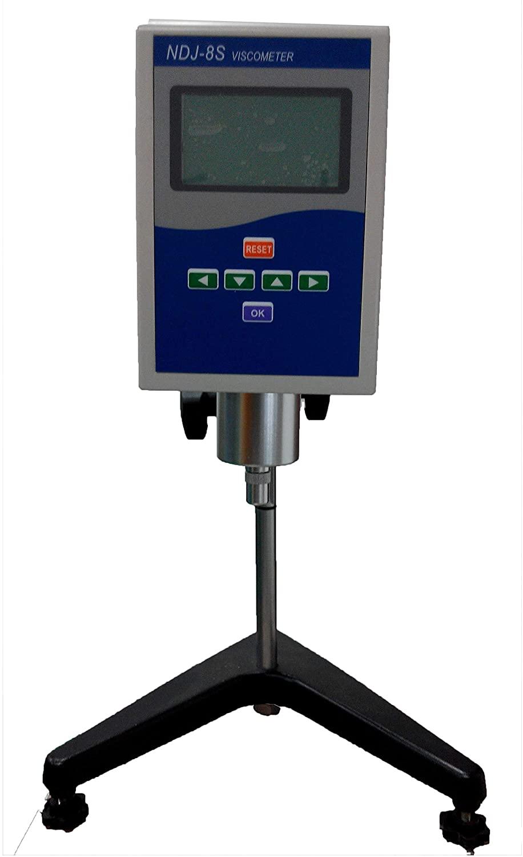 Viscosity Meter Rotary Viscometer Tester with 4 Rotor Digital Display Viscosity Measuring Range 1 to 2×1000000 mPa.s