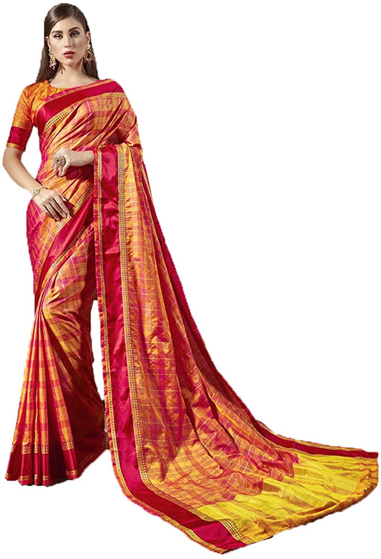 Indian Saree for Women Ethnic Sari Multi Weaving Silk Sari with Unstitched Blouse. ICW2684-1