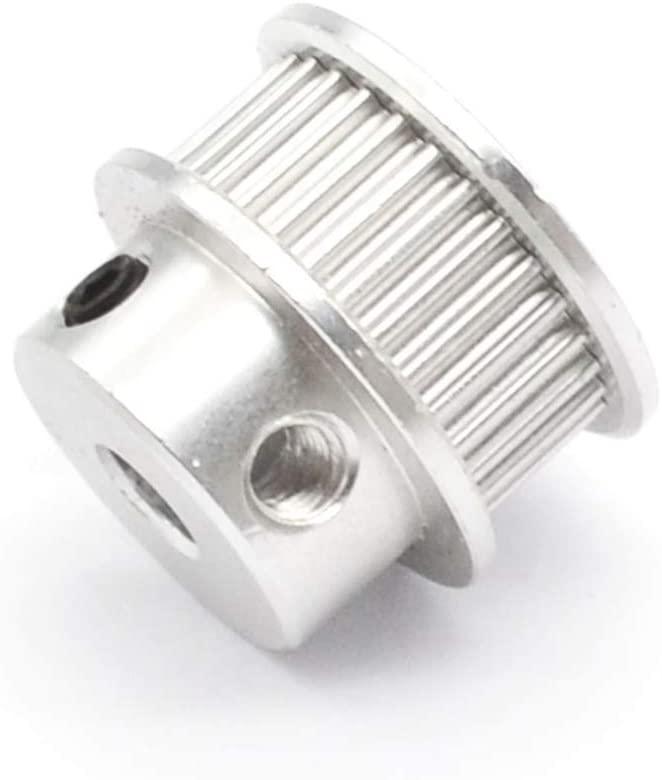 Nologo WYS-DAOLUOGAN, 5 Pcs Timing Pulley for Width 6mm Belt 30T Bore 5/8mm 3D Printer Parts OD 22mm Gear 30 Teeth GT2 Reprap CNC (Size : 30T ID5 OD22 W6)