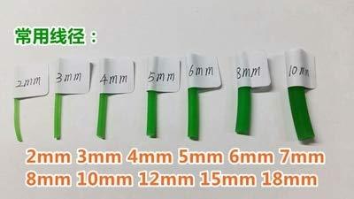 Ochoos 5meter Polyurethane Conveyor Belts PU Round Belt Drive Belt 2mm,3mm,4mm,5mm,6mm,7mm,8mm,10mm 15mm Dia Thick - (Width: Green 2mmX5m)