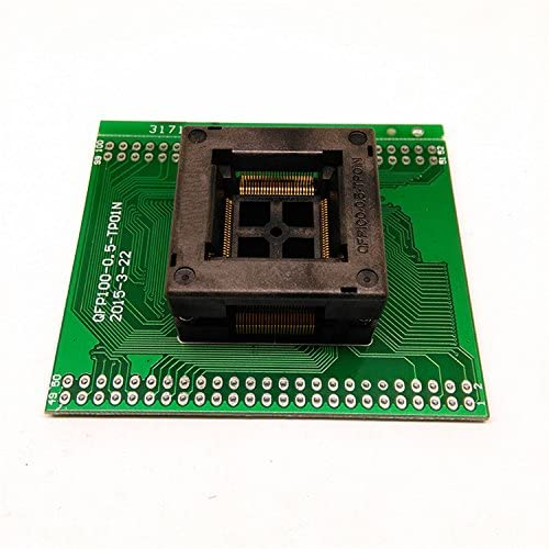 QFP100 FQFP100 TQFP100 to DIP100 programming Socket OTQ-100-0.5-09 Pin Pitch 0.5mm IC Body Size 14x14mm tip to tip size 16x16mm Test Socket Adapter Programmer MCU As a Transfer board