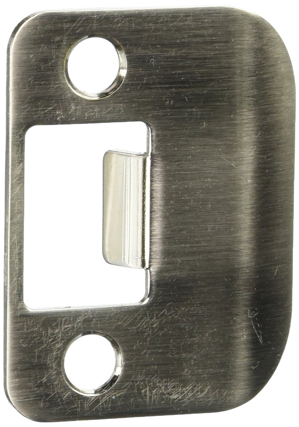 Don-Jo ST 214 RC 18 Gauge Steel Replacement Strike with Radius Corner, Blackened Satin Nickel Plated, 1-1/4