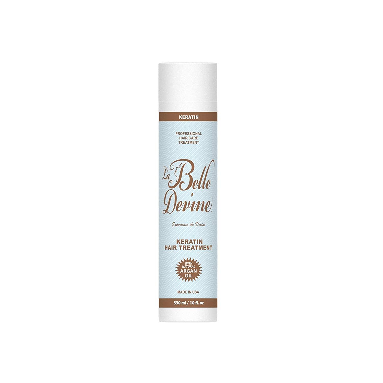 La Belle Devine Keratin Hair Treatment with Natural Argan Oil | Professional Womens Hair Care Treatment | 10 oz.