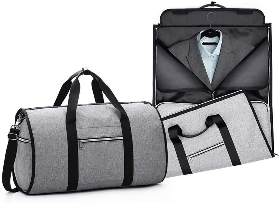 Xgxyklo Foldable Garment Bag, Carry on Garment Weekender Duffel Bag for Men, 2 in 1 Hanging Suitcase Suit Travel Bags
