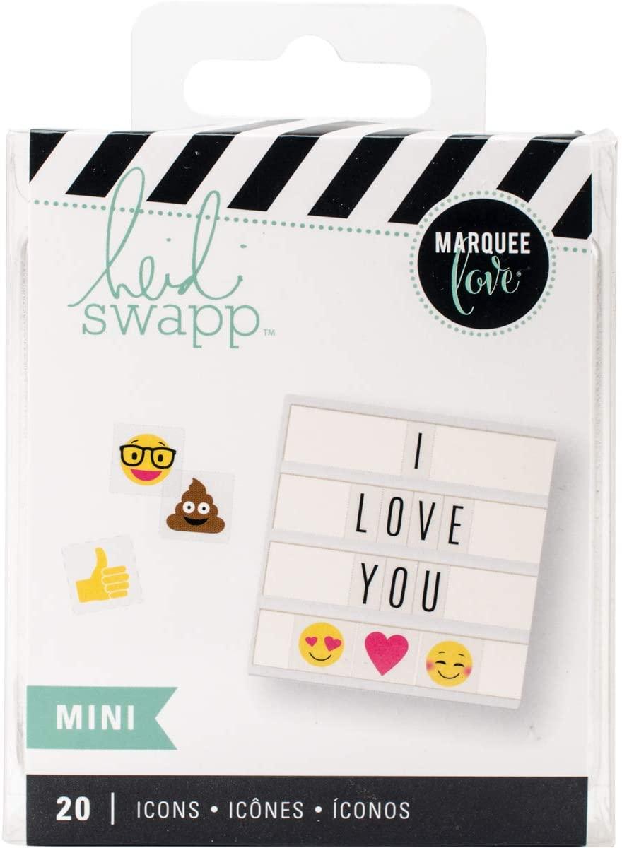 Heidi Swapp 315038 Accessory Lightbox-Mini Icons-Emoji (20 Piece)