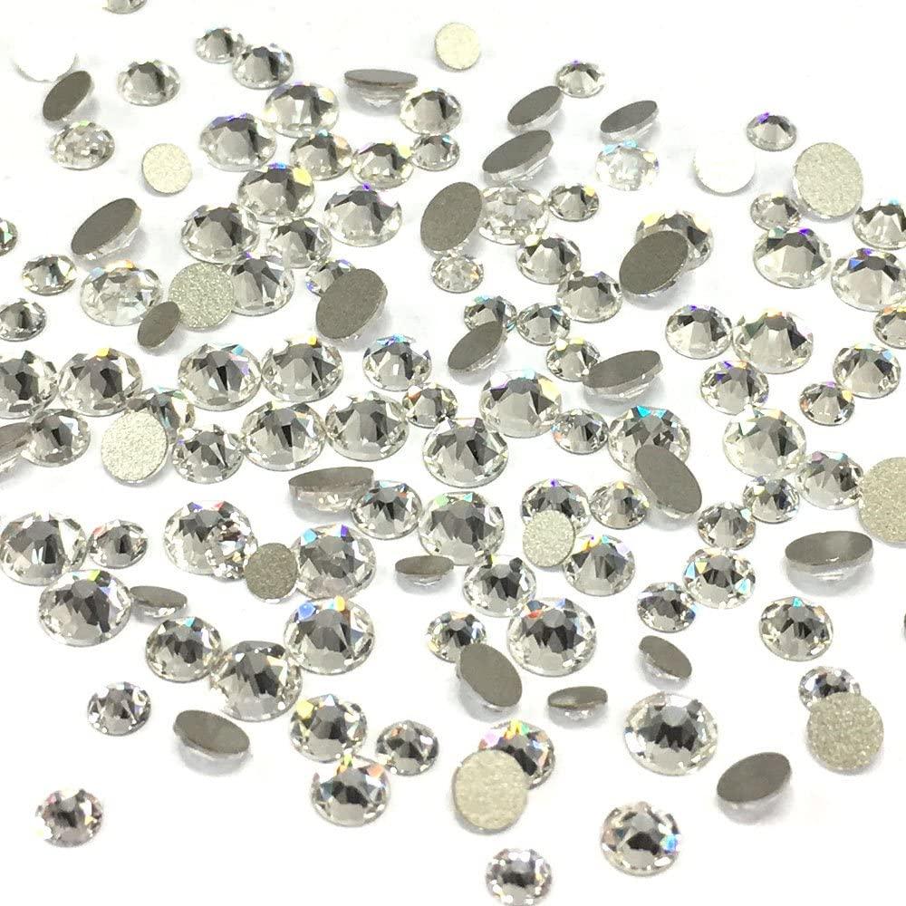 Crystal (001) Clear 2088 Xirius Swarovski Mixed Sizes ss12 ss16 ss20 Flatbacks No Hotfix Round Rhinestones