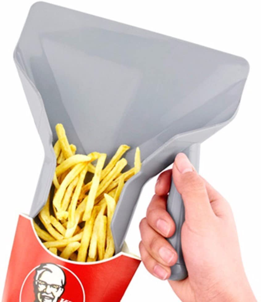 Only Right Handle Comerical Plastic Chips Scoop Food French Fries Shovel Handle Fry Scoop