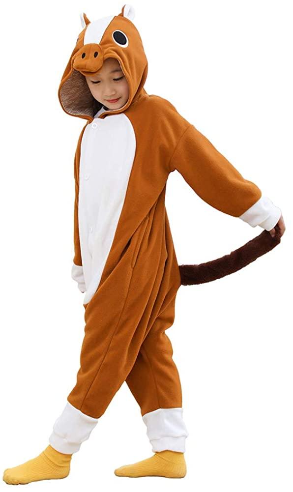 Kids Animal Onesie Cartoon Pajamas Halloween Cosplay Costume