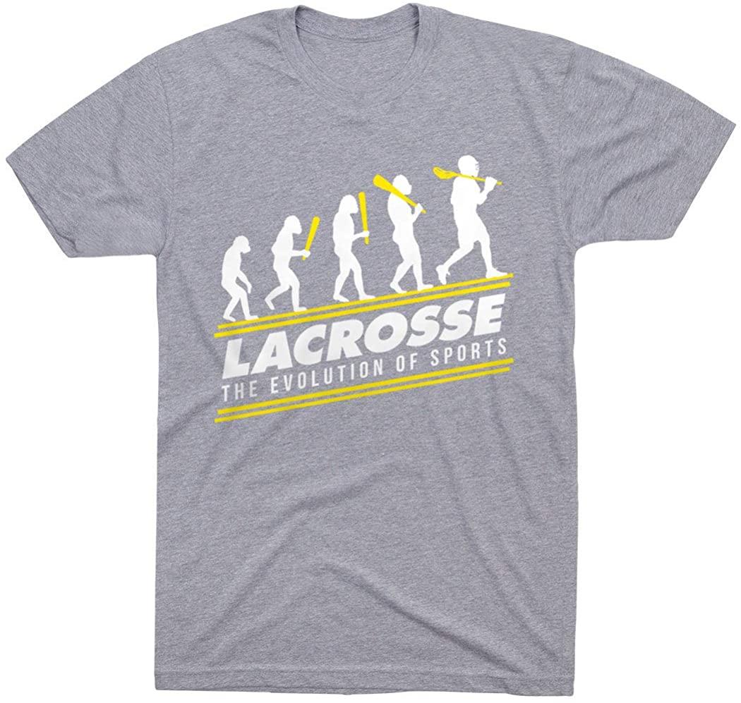 Guys Lacrosse Short Sleeve Adult T-Shirt | Evolution | Multiple Colors | Adult Sizes