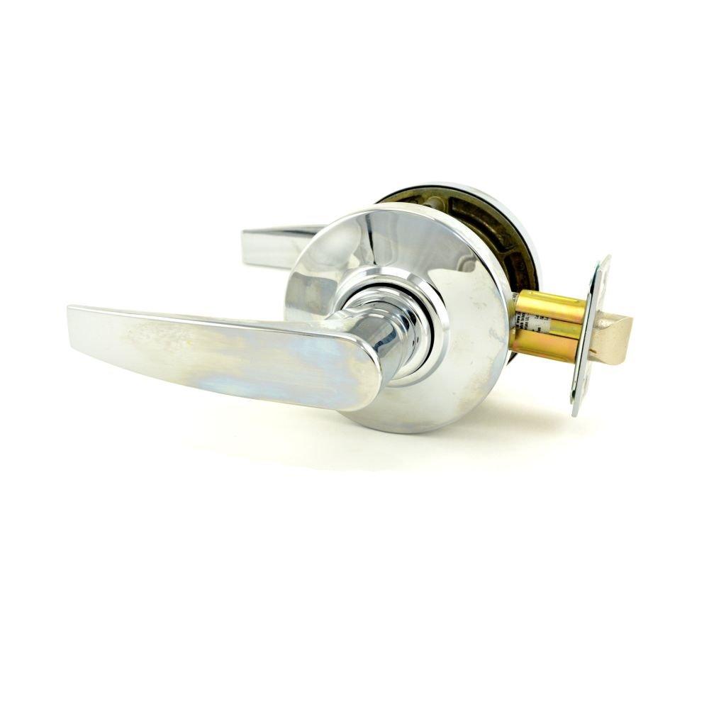 Schlage Commercial AL10JUP625 AL Series Grade 2 Cylindrical Lock, Passage Function, Jupiter Lever Design, Bright Chrome Finish