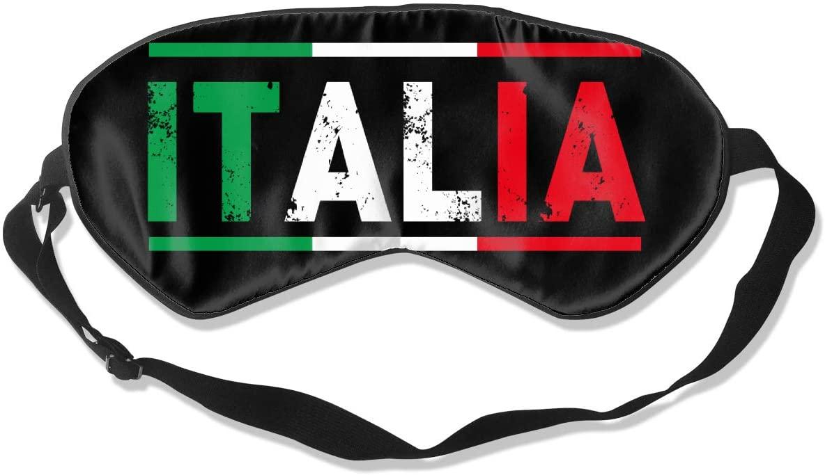 Italian Flag Eye Mask Sleeping Mask 100% Double-Sided Silk Eyeshade Eye Cover