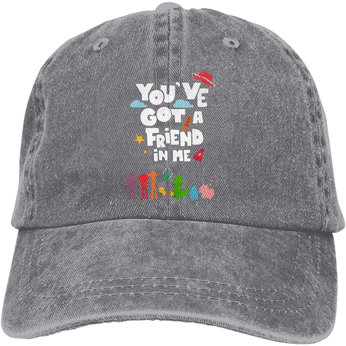 GOOANGUS Cute You've Got A Friend in Me Adjustable Unisex Hat Baseball Caps Black