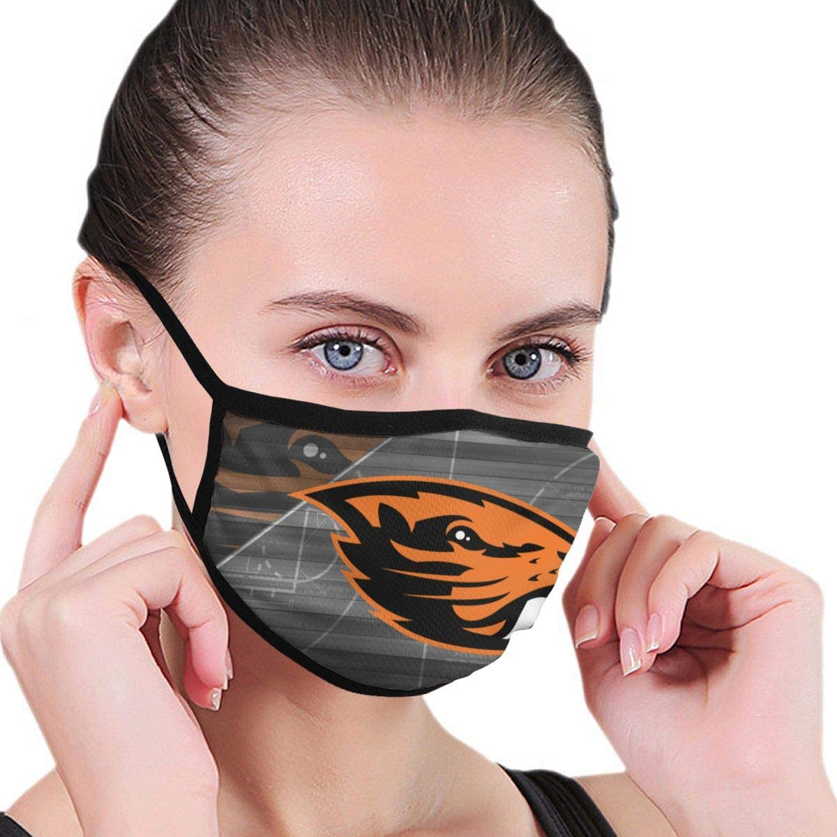 G-III Sports Oregon State Beavers Face Cover Washable and Reusable Mouth Cover Facial Warm Windproof Dust Outdoor Polyester Unisex Face Guard Beanie