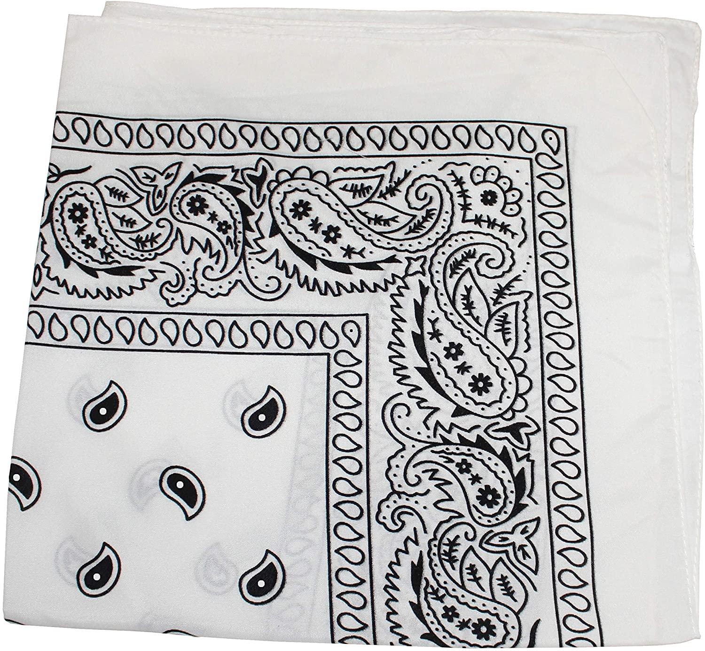 Mechaly Paisley 100% Polyester Unisex Bandanas - 12 Pack - Dozen Wholesale