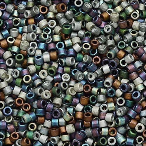 Miyuki Delica Seed Beads, 11/0 Size, 100 Gram Bulk Bag, Mix Matte Heavy Metals