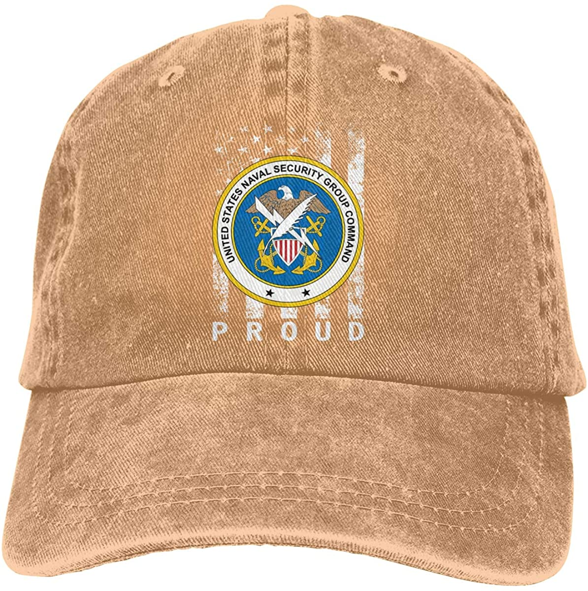 US Navy Naval Security Group Command Unisex Washed Retro Proud American Adjustable Baseball Cap Dad Hat