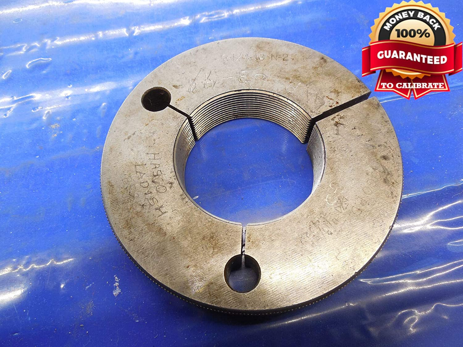 2 1/4 16 N 2 Thread Ring GAGE 2.25 NO GO ONLY P.D. = 2.2032 2 1/4-16 N-2 Tool