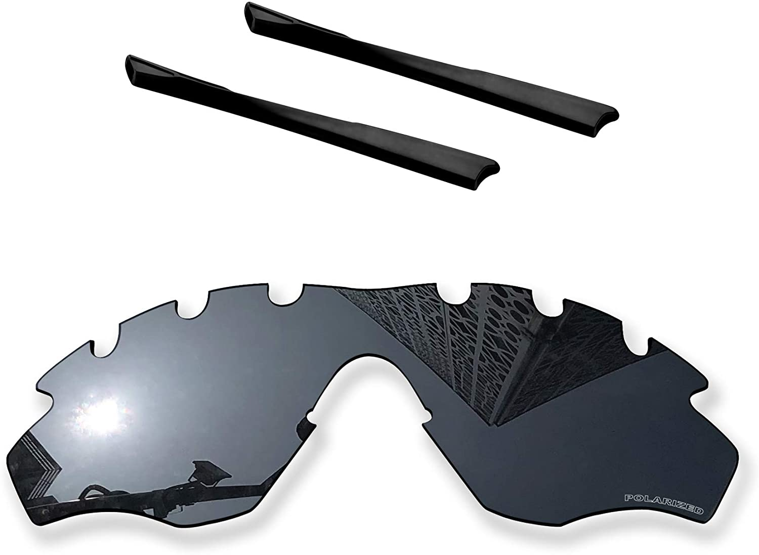 MYCOURAG Anti-Salt Polarized Replacement Lenses Compatible with Oakley M2 Frame Vented OO9212 Sunglass - Solid Black