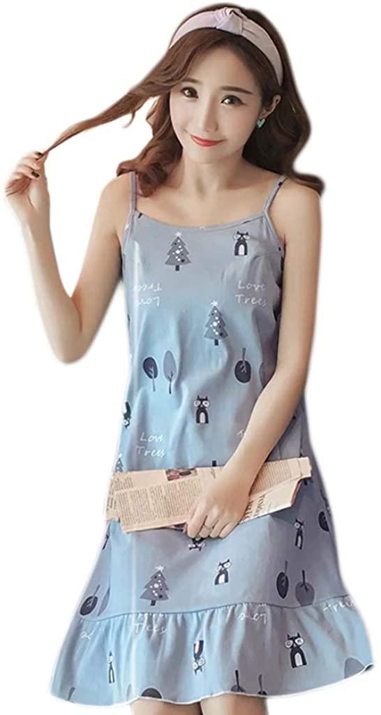 Women Summer Sleeveless Sexy Nightdress Hem Cami Sleepwear to Have A Cool Summer Night