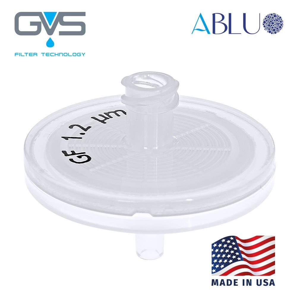 Syringe Filter, ABLUO, 33mm, Glass Fiber Membrane, 1.2µm, PP Housing, 500/pk