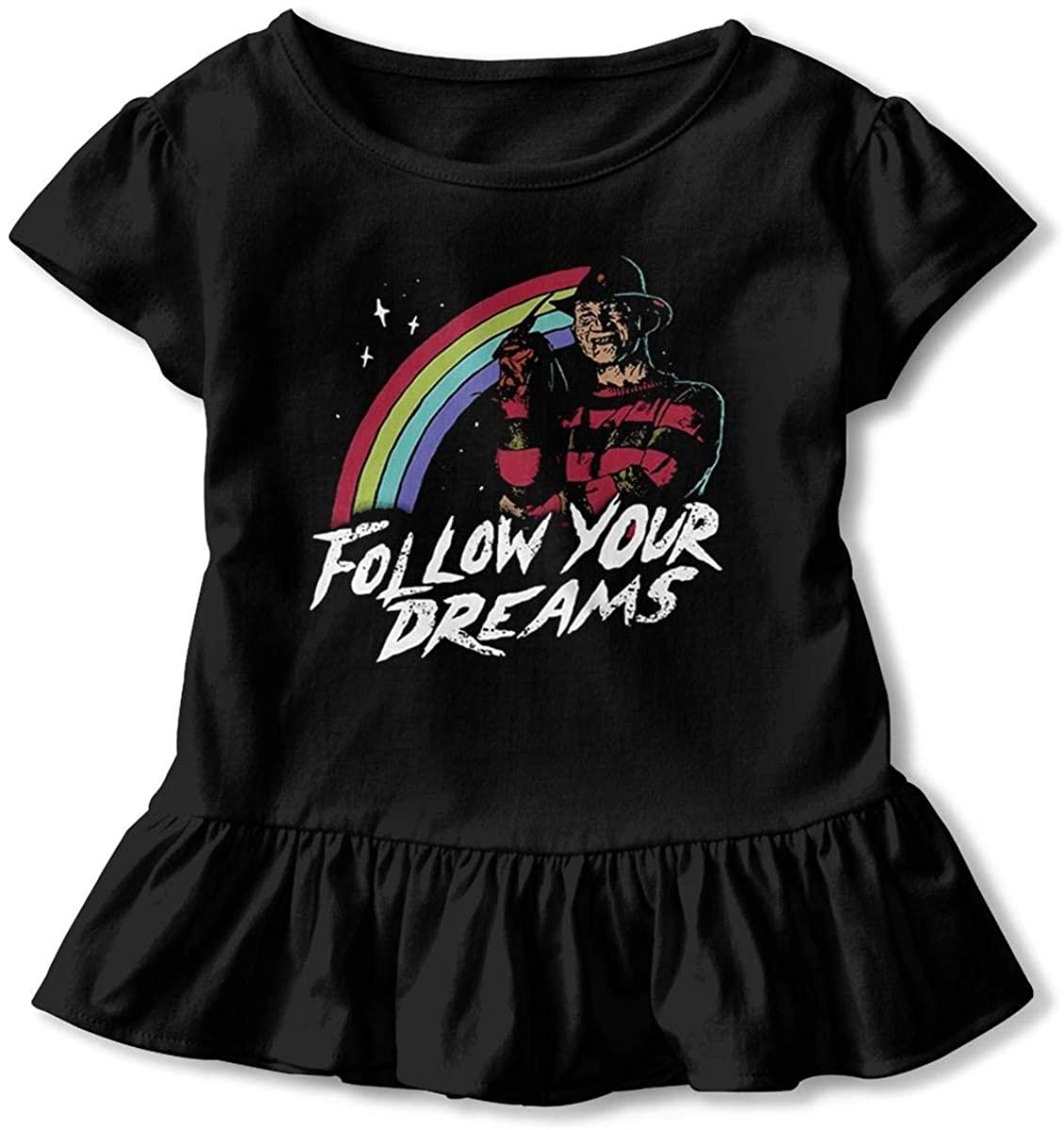 King Gizzard and Lizard Wizard Baby Girls Basic Shirts Toddler Short Sleeve T-Shirts Essential Ruffle T-Shirt