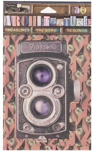 7 Gypsies Architextures Treasures Adhesive Embellishments - Vintage Style Camera 4