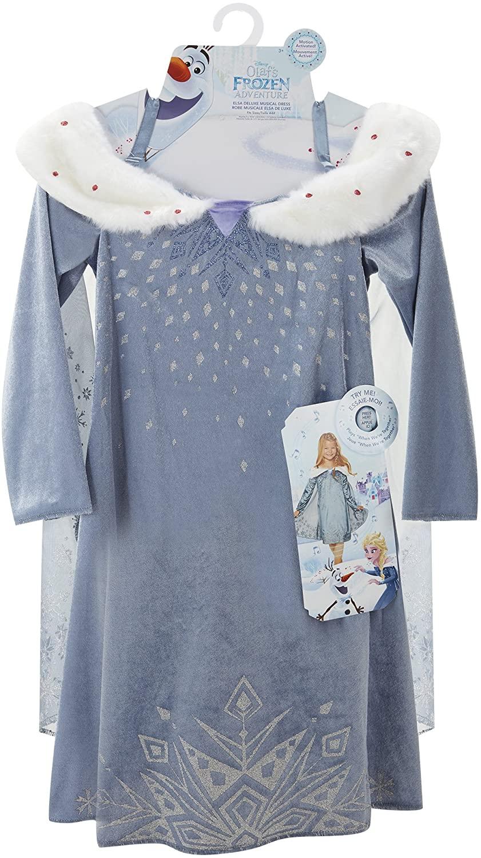 Disney Olafs Frozen Adventure Elsa Deluxe Musical Kids Dress