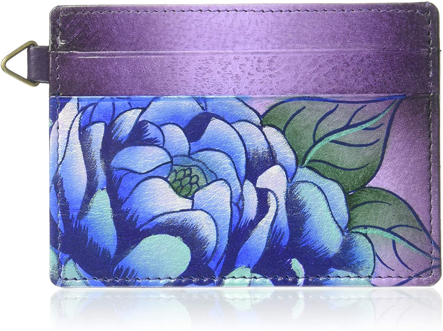 Anna by Anuschka Hand Painted Leather Women's Credit Card CASE
