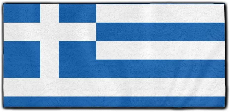 ChunLei Flag of Greece Washcloths Face Towel Hair Care Towel Gym and Spa Towel Kitchen Dish Towel