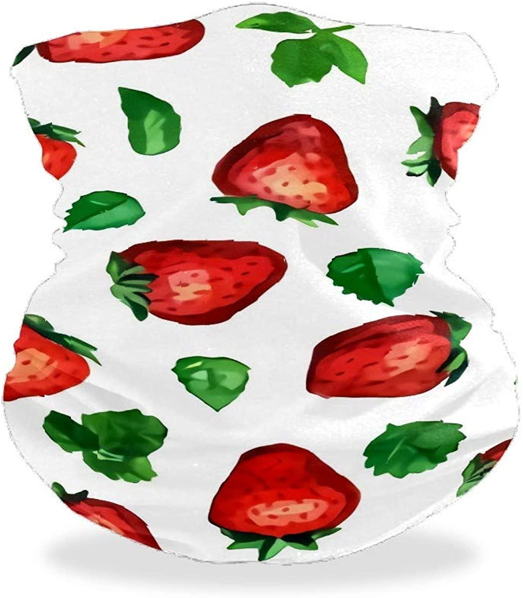 J.COXLOD Face Scarf Neck Gaiter, Adjustable Reusable Bandana, Sun UV Protection Cool Lightweight Face Cover for Women& Men Fruit Printed