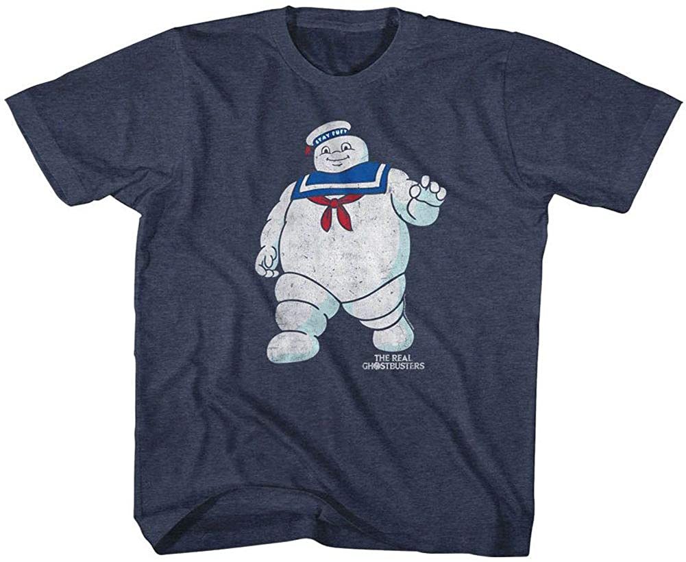 The Real Ghostbusters Animated TV Series Mr Stay Puft 2 Vintage Youth TShirt Tee