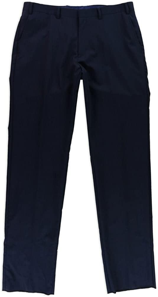 Tallia Mens Pinstriped Dress Pants Slacks