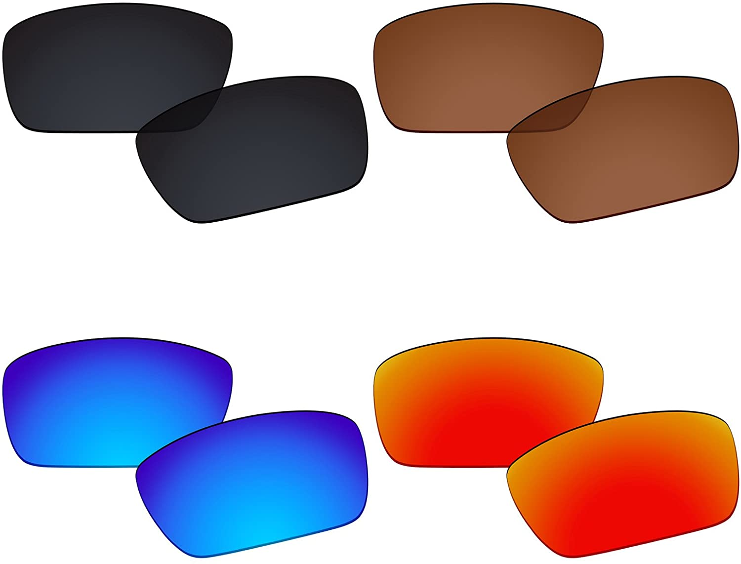 Galvanic 4 Pairs Replacement Lenses for Oakley Fuel Cell OO9096 Pack P02