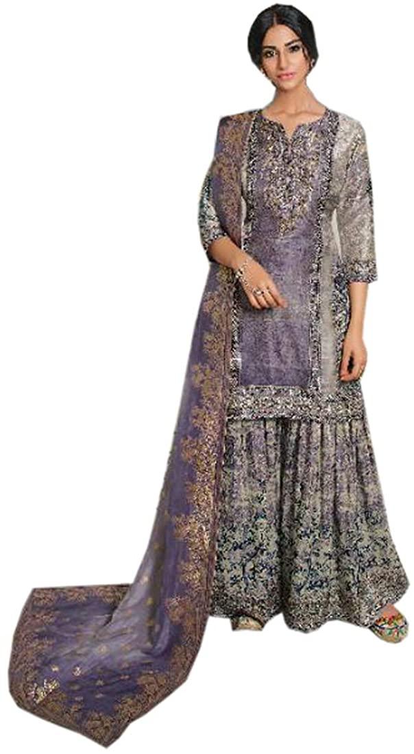SHRI BALAJI SILK & COTTON SAREE EMPORIUM 9579 Indian Pakistani Sharar Suit Salwar Kameez Churidar Party Eid Women