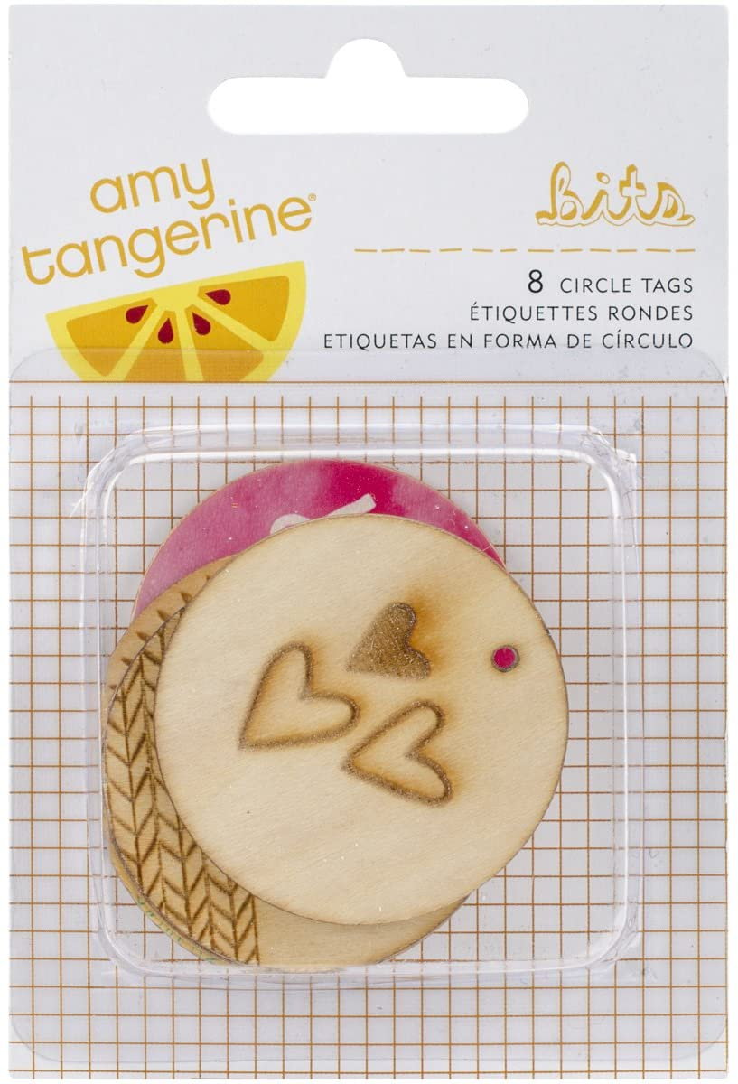 American Crafts Amy Tangerine Rise and Shine Mixed Circle Tags